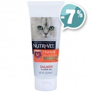 Nutri-Vet Hairball Paw-Gel for Cats для кошек с лососем  89 мл