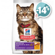 Hills Feline Adult Sensitive Skin Chicken для кошек